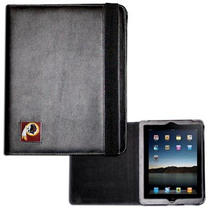 Washington Redskins iPad Case - The perfect iPad accessory. The black case hold the iPad 1 and the iPad 2 with Smart Cover and features a cast and enameled NFL Washington Redskins team emblem. Officially licensed NFL product Licensee: Siskiyou Buckle Thank you for visiting CrazedOutSports.com