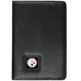 Pittsburgh Steelers iPad Air Folio Case - This attractive Pittsburgh Steelers iPad Air folio case provides all over protection for your tablet while allowing easy flip access. The cover is designed to allow you to fully utilize your tablet without ever removing it from the padded, protective cover. The enameled team emblem makes this case a great way to show off your team pride! Officially licensed NFL product Licensee: Siskiyou Buckle .com