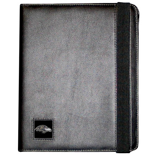Ravens iPad Case - The perfect iPad accessory. The black case hold the iPad 1 and the iPad 2 with Smart Cover and features a cast and enameled NFL team emblem. Officially licensed NFL product Licensee: Siskiyou Buckle .com