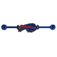 Buffalo Bills Industrial Slider Barbell -  Show off your love of the game with this officially licensed.Buffalo Bills industrial slider barbell. The 40mm barbell features an expertly designed team slider charm  Officially licensed NFL product Licensee: Siskiyou Buckle .com