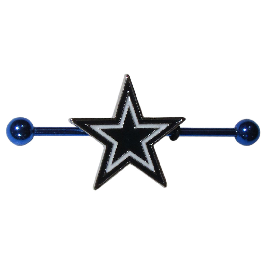 Dallas Cowboys Industrial Slider Barbell - Show off your love of the game with this officially licensed.Dallas Cowboys industrial slider barbell. The 40mm barbell features an expertly designed team slider charm
