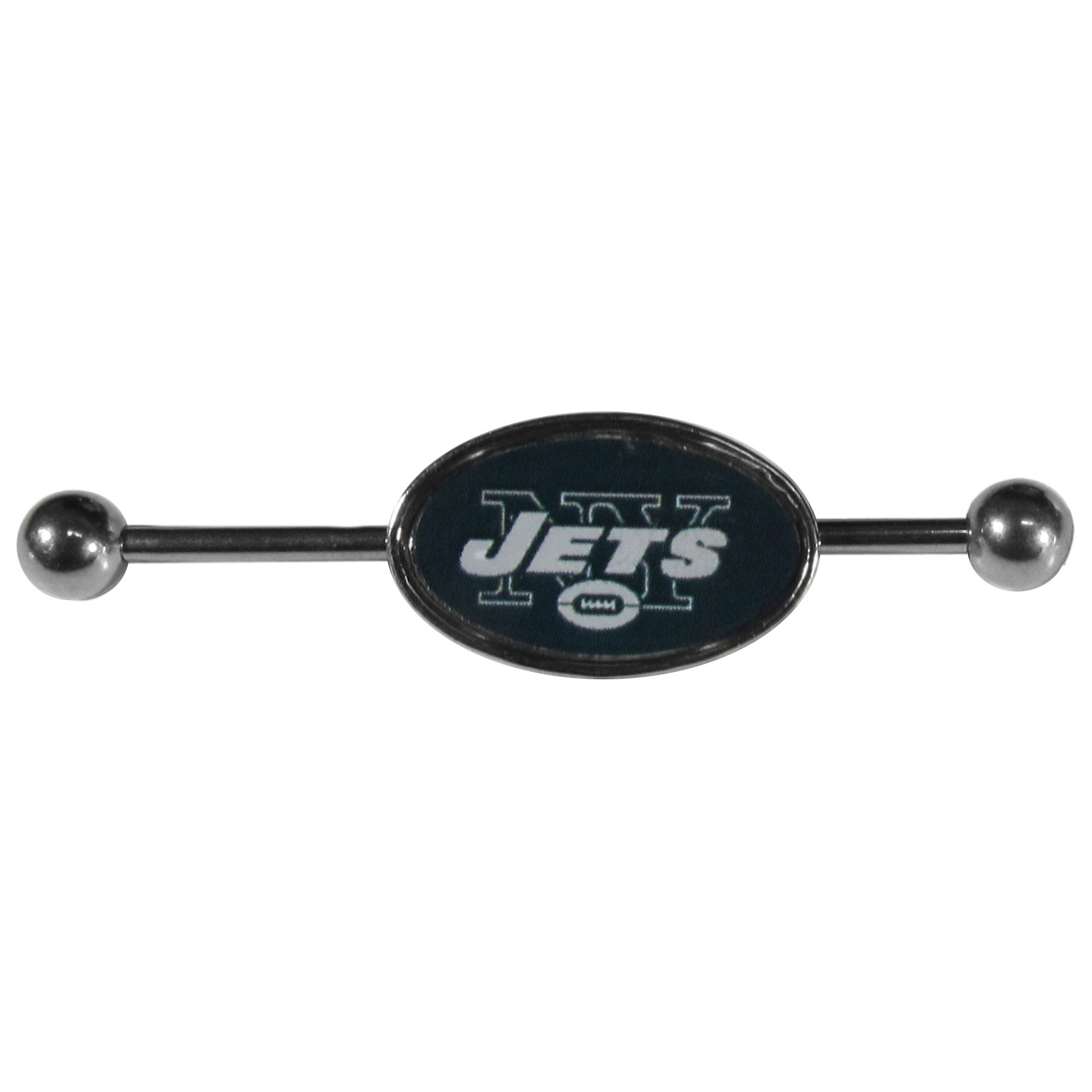 New York Jets Industrial Slider Barbell - Show off your love of the game with this officially licensed.New York Jets industrial slider barbell. The 40mm barbell features an expertly designed team slider charm