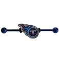 Tennessee Titans Industrial Slider Barbell -  Show off your love of the game with this officially licensed.Tennessee Titans industrial slider barbell. The 40mm barbell features an expertly designed team slider charm  Officially licensed NFL product Licensee: Siskiyou Buckle .com