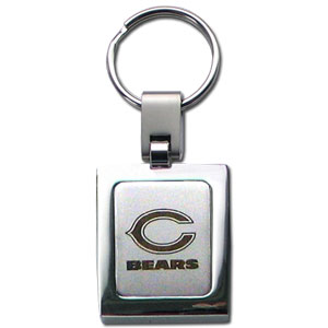 NFL Sq. Chrome Key Chain - Chicago Bears - The NFL key chain features the team logo etched on a brushed steel square surrounded by a chrome key ring. Officially licensed NFL product Licensee: Siskiyou Buckle .com