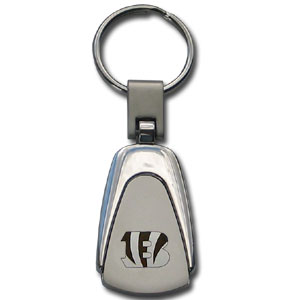 NFL Etched Key Chain - Cincinnati Bengals - This key ring features a laser etched NFL team logo on brushed steel set in a chrome key ring. Check out our extensive line of  NFL merchandise! Officially licensed NFL product Licensee: Siskiyou Buckle .com