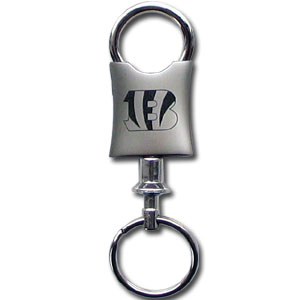 NFL Valet Key Chain - Cincinnati Bengals - This NFL valet key chain features a laser etched logo on a brushed steel key chain. The key portion detaches for easy release of the keys. Officially licensed NFL product Licensee: Siskiyou Buckle Thank you for visiting CrazedOutSports.com