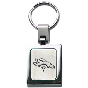 NFL Sq. Chrome Key Chain - Denver Broncos - The NFL key chain features the team logo etched on a brushed steel square surrounded by a chrome key ring. Officially licensed NFL product Licensee: Siskiyou Buckle Thank you for visiting CrazedOutSports.com