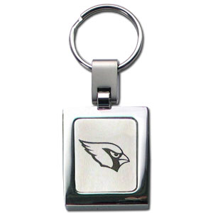 NFL Sq. Chrome Key Chain - Arizona Cardinals - The NFL key chain features the team logo etched on a brushed steel square surrounded by a chrome key ring. Officially licensed NFL product Licensee: Siskiyou Buckle Thank you for visiting CrazedOutSports.com