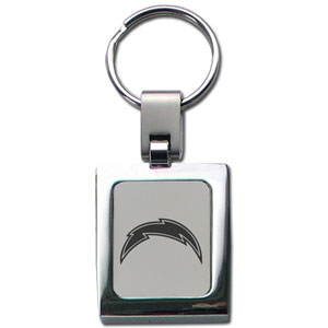 NFL Sq. Chrome Key Chain - San Diego Chargers - The NFL key chain features the team logo etched on a brushed steel square surrounded by a chrome key ring. Officially licensed NFL product Licensee: Siskiyou Buckle Thank you for visiting CrazedOutSports.com