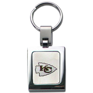 NFL Sq. Chrome Key Chain - Kansas City Chiefs - The NFL key chain features the team logo etched on a brushed steel square surrounded by a chrome key ring. Officially licensed NFL product Licensee: Siskiyou Buckle Thank you for visiting CrazedOutSports.com