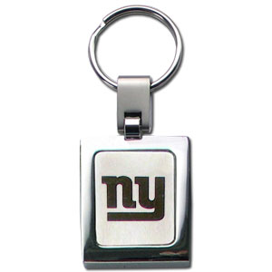 NFL Sq. Chrome Key Chain - New York Giants - The NFL key chain features the team logo etched on a brushed steel square surrounded by a chrome key ring. Officially licensed NFL product Licensee: Siskiyou Buckle .com