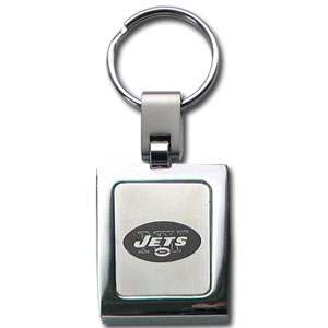 NFL Sq. Chrome Key Chain - New York Jets - The NFL key chain features the team logo etched on a brushed steel square surrounded by a chrome key ring. Officially licensed NFL product Licensee: Siskiyou Buckle Thank you for visiting CrazedOutSports.com