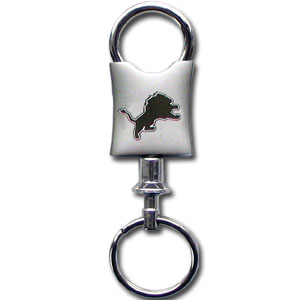 NFL Valet Key Chain - Detroit Lions  - This NFL valet key chain features a laser etched logo on a brushed steel key chain. The key portion detaches for easy release of the keys. Officially licensed NFL product Licensee: Siskiyou Buckle .com