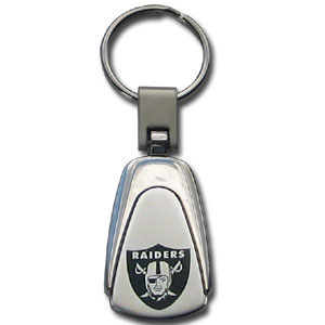NFL Etched Key Chain - Oakland Raiders - This key ring features a laser etched NFL team logo on brushed steel set in a chrome key ring. Check out our extensive line of  NFL merchandise! Officially licensed NFL product Licensee: Siskiyou Buckle Thank you for visiting CrazedOutSports.com