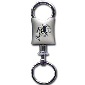 NFL Valet Key Chain - Washington Redskins - This NFL valet key chain features a laser etched logo on a brushed steel key chain. The key portion detaches for easy release of the keys. Officially licensed NFL product Licensee: Siskiyou Buckle Thank you for visiting CrazedOutSports.com