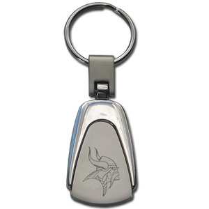 NFL Etched Key Chain - Minnesota Vikings - This key ring features a laser etched NFL team logo on brushed steel set in a chrome key ring. Check out our extensive line of  NFL merchandise! Officially licensed NFL product Licensee: Siskiyou Buckle .com