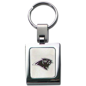 NFL Sq. Chrome Key Chain - Carolina Panthers - The NFL key chain features the team logo etched on a brushed steel square surrounded by a chrome key ring. Officially licensed NFL product Licensee: Siskiyou Buckle Thank you for visiting CrazedOutSports.com
