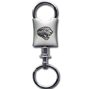 NFL Valet Key Chain - Jacksonville Jaguars - This NFL valet key chain features a laser etched logo on a brushed steel key chain. The key portion detaches for easy release of the keys. Officially licensed NFL product Licensee: Siskiyou Buckle Thank you for visiting CrazedOutSports.com