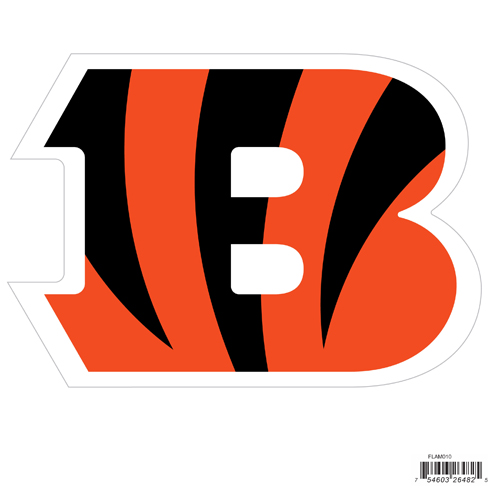 "Cincinnati Bengals 8"" Logo Magnet - Make sure everyone knows your are a fan with our big 8"" logo magnets. These officially licensed magnets stick to any magnetic metal and our outdoor rated! Perfect for game day and everyday! Officially licensed NFL product Licensee: Siskiyou Buckle .com"