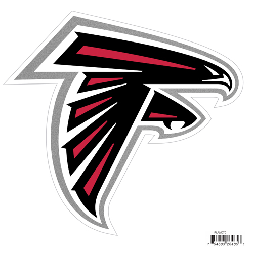 "Atlanta Falcons 8"" Logo Magnet - Make sure everyone knows your are a fan with our big 8"" logo magnets. These officially licensed magnets stick to any magnetic metal and our outdoor rated! Perfect for game day and everyday! Officially licensed NFL product Licensee: Siskiyou Buckle .com"