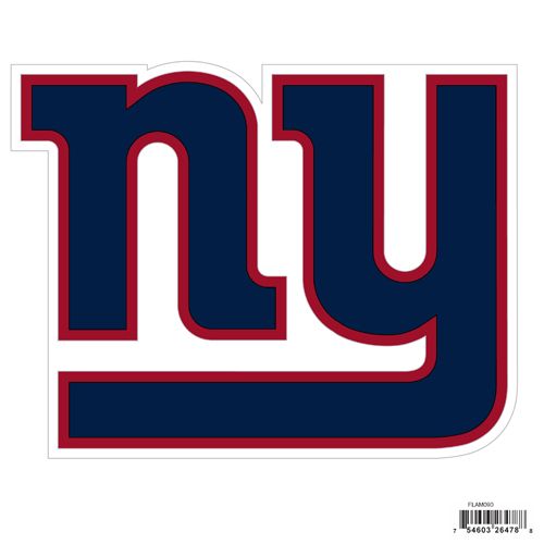 "New York Giants 8"" Logo Magnet - Make sure everyone knows your are a fan with our big 8"" logo magnets. These officially licensed magnets stick to any magnetic metal and our outdoor rated! Perfect for game day and everyday! Officially licensed NFL product Licensee: Siskiyou Buckle .com"