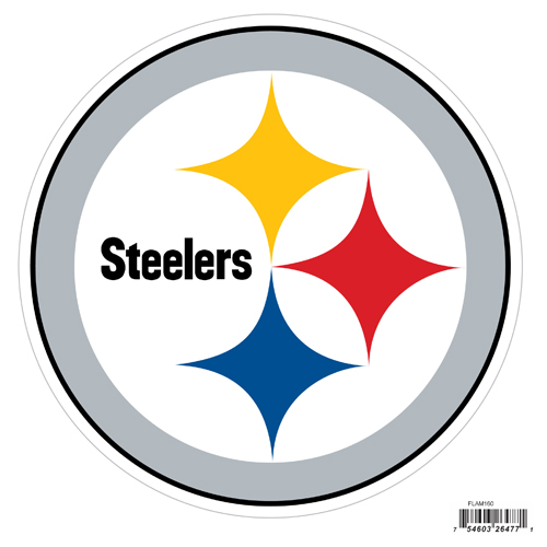 "Pittsburgh Steelers 8"" Logo Magnet - Make sure everyone knows your are a fan with our big 8"" logo magnets. These officially licensed magnets stick to any magnetic metal and our outdoor rated! Perfect for game day and everyday! Officially licensed NFL product Licensee: Siskiyou Buckle .com"