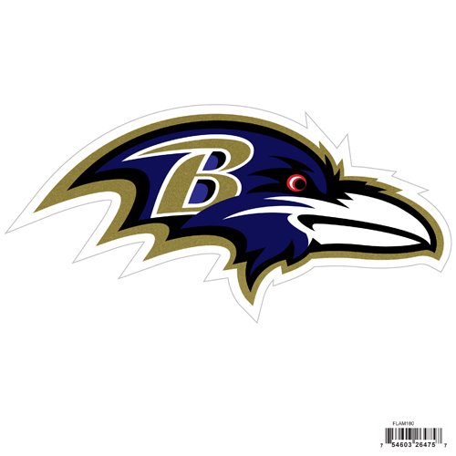 "Baltimore Ravens 8"" Logo Magnet - Make sure everyone knows your are a fan with our big 8"" logo magnets. These officially licensed magnets stick to any magnetic metal and our outdoor rated! Perfect for game day and everyday! Officially licensed NFL product Licensee: Siskiyou Buckle .com"