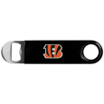 Cincinnati Bengals Long Neck Bottle Opener - This heavy-duty steel opener is extra long, with a durable vinyl covering. The extra length provides more leverage for speed opening and the opener features a large printed Cincinnati Bengals logo. Officially licensed NFL product Licensee: Siskiyou Buckle. !
