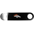 Denver Broncos Long Neck Bottle Opener - This heavy-duty steel opener is extra long, with a durable vinyl covering. The extra length provides more leverage for speed opening and the opener features a large printed Denver Broncos logo. Officially licensed NFL product Licensee: Siskiyou Buckle. Thank you for visiting CrazedOutSports!