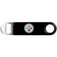 Pittsburgh Steelers Long Neck Bottle Opener - This heavy-duty steel opener is extra long, with a durable vinyl covering. The extra length provides more leverage for speed opening and the opener features a large printed Pittsburgh Steelers logo. Officially licensed NFL product Licensee: Siskiyou Buckle. !