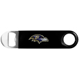 Baltimore Ravens Long Neck Bottle Opener - This heavy-duty steel opener is extra long, with a durable vinyl covering. The extra length provides more leverage for speed opening and the opener features a large printed Baltimore Ravens logo.Officially licensed NFL product Licensee: Siskiyou Buckle. !