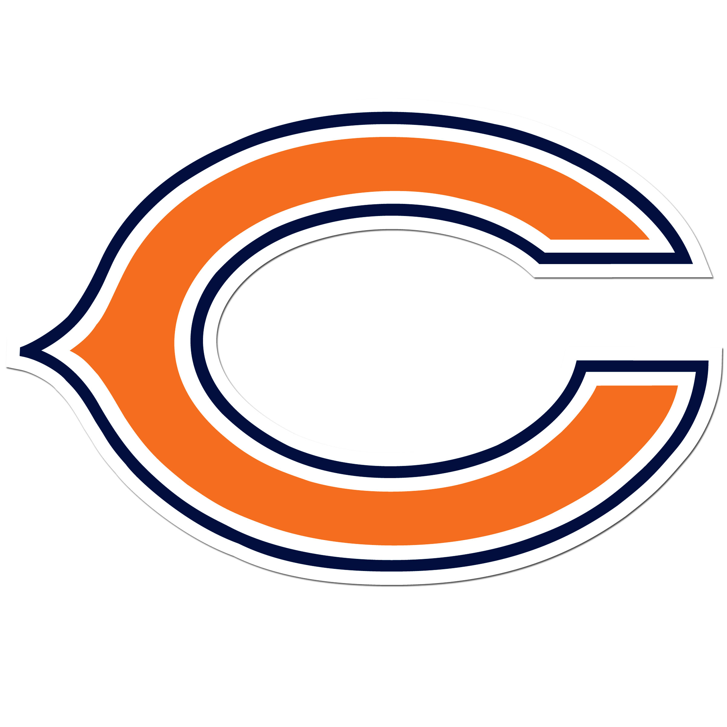 Chicago Bears 8 inch Auto Decal - This bold, 8 inch Chicago Bears is a great way to show off your team pride! The low tack vinyl decal is easily positioned and adjusted to make sure you get that logo in just the right spot on your vehicle. Designed to be used on the outside of the window.