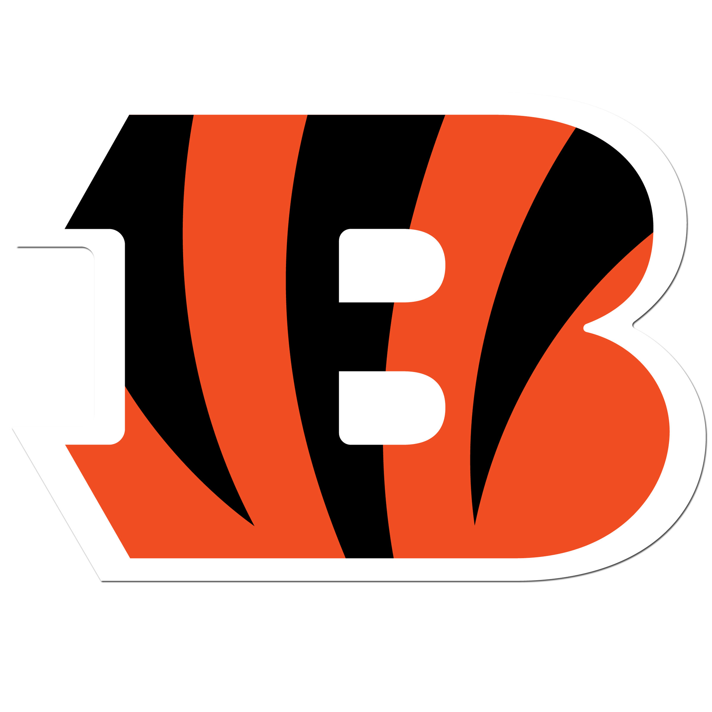 Cincinnati Bengals 8 inch Auto Decal - This bold, 8 inch Cincinnati Bengals is a great way to show off your team pride! The low tack vinyl decal is easily positioned and adjusted to make sure you get that logo in just the right spot on your vehicle. Designed to be used on the outside of the window.
