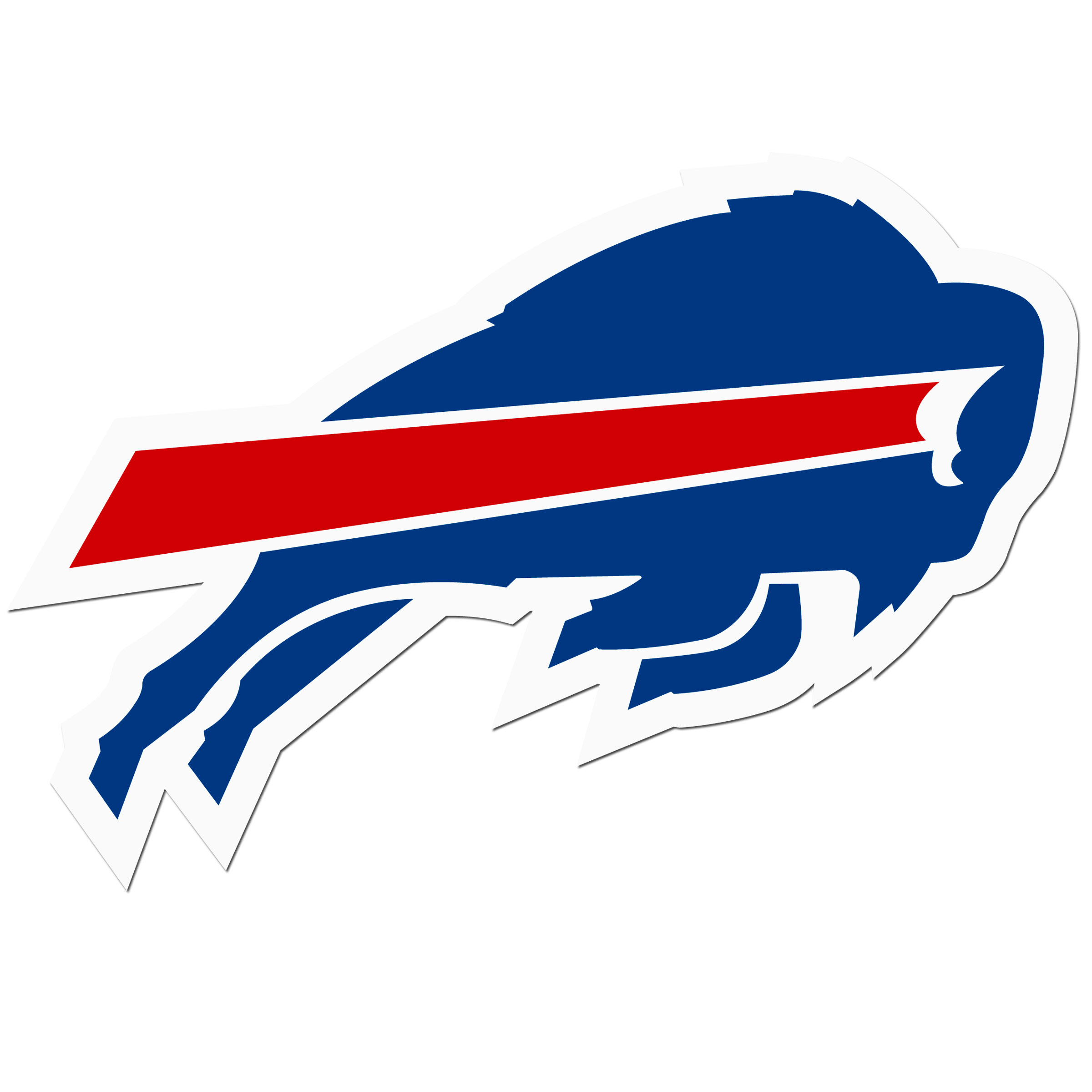 Buffalo Bills 8 inch Auto Decal - This bold, 8 inch Buffalo Bills is a great way to show off your team pride! The low tack vinyl decal is easily positioned and adjusted to make sure you get that logo in just the right spot on your vehicle. Designed to be used on the outside of the window.
