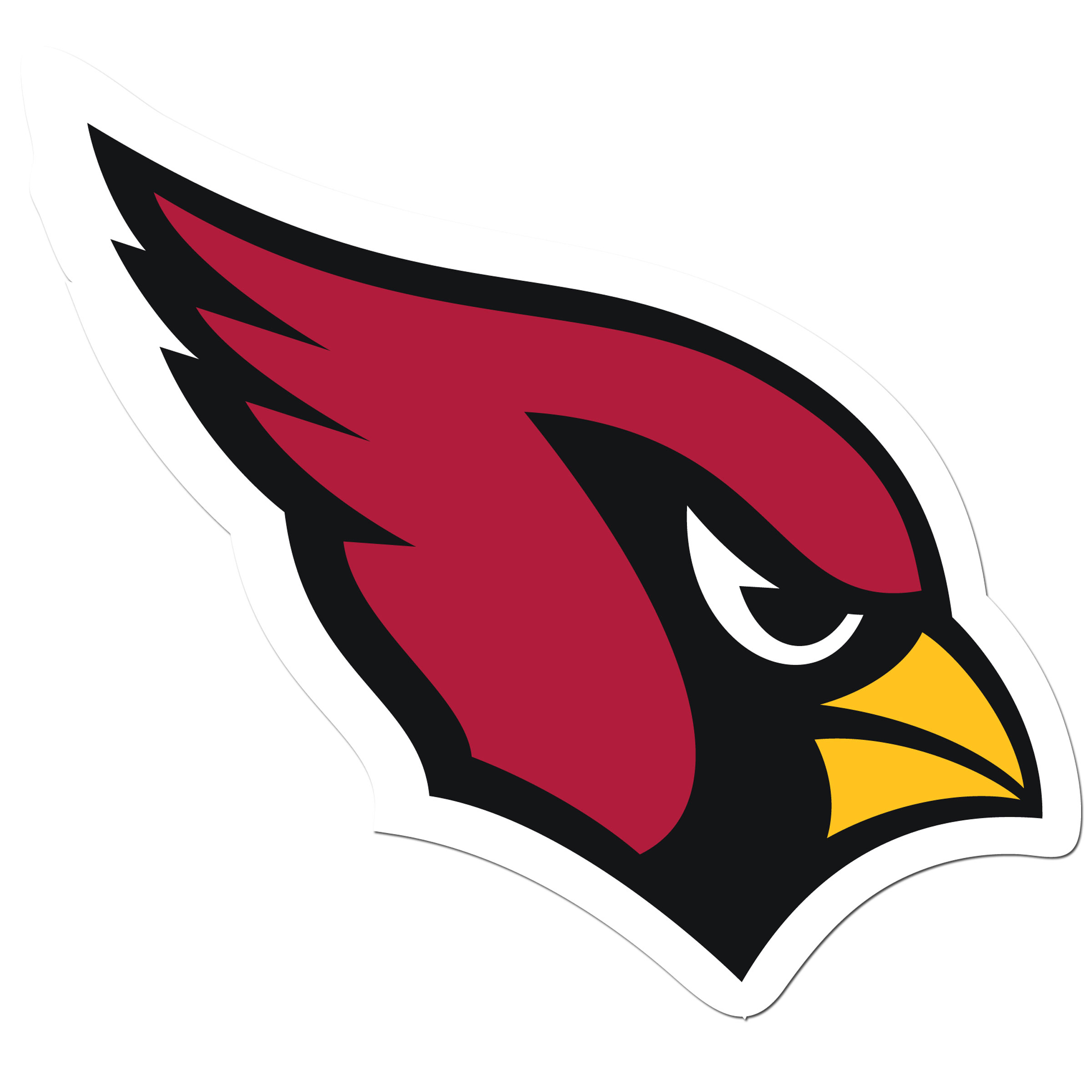 Arizona Cardinals 8 inch Auto Decal - This bold, 8 inch Arizona Cardinals is a great way to show off your team pride! The low tack vinyl decal is easily positioned and adjusted to make sure you get that logo in just the right spot on your vehicle. Designed to be used on the outside of the window.