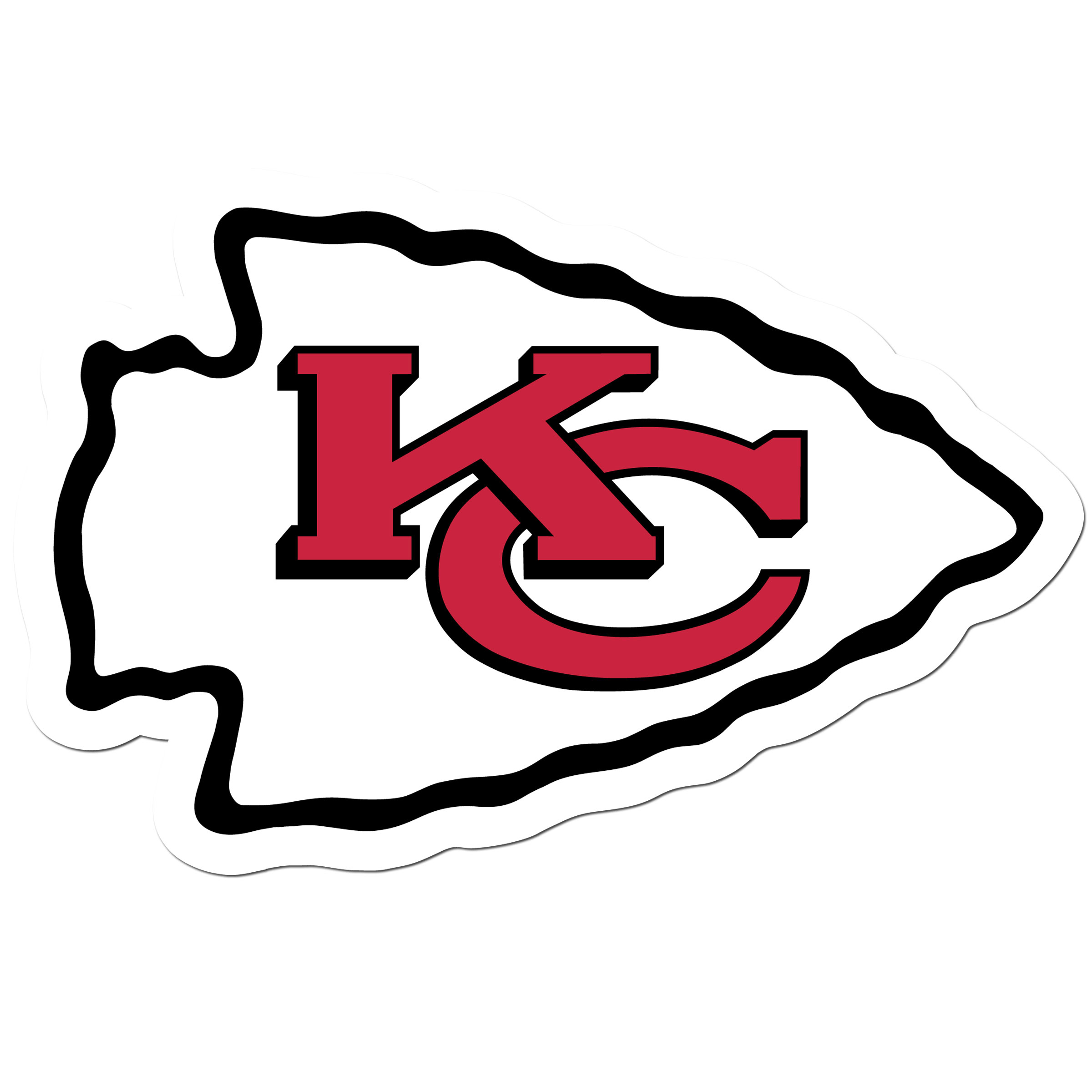Kansas City Chiefs 8 inch Auto Decal - This bold, 8 inch Kansas City Chiefs is a great way to show off your team pride! The low tack vinyl decal is easily positioned and adjusted to make sure you get that logo in just the right spot on your vehicle. Designed to be used on the outside of the window.