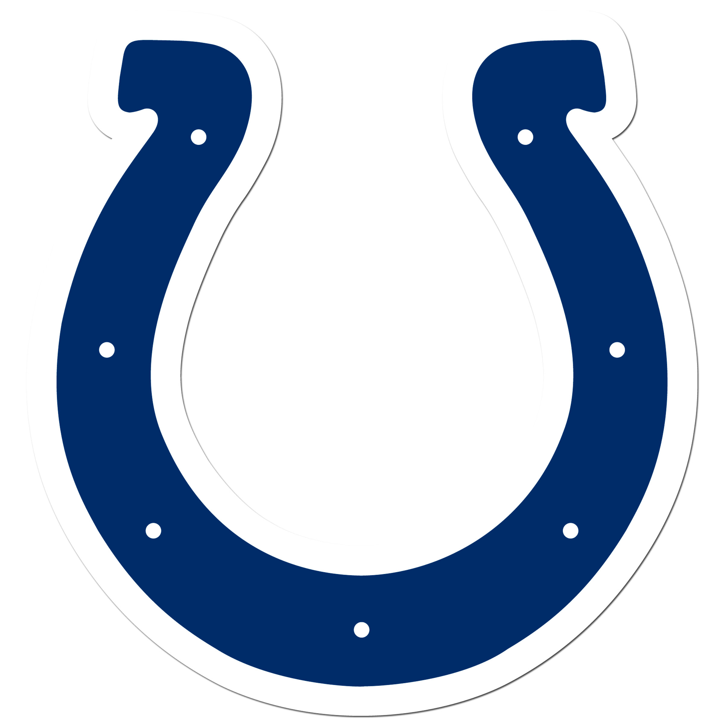 Indianapolis Colts 8 inch Auto Decal - This bold, 8 inch Indianapolis Colts is a great way to show off your team pride! The low tack vinyl decal is easily positioned and adjusted to make sure you get that logo in just the right spot on your vehicle. Designed to be used on the outside of the window.