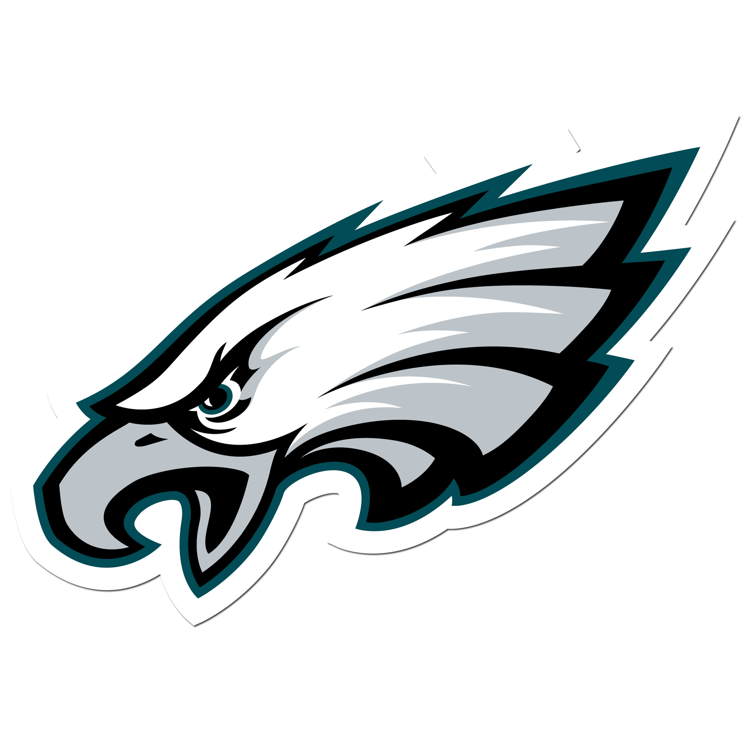 Philadelphia Eagles 8 inch Auto Decal - This bold, 8 inch Philadelphia Eagles is a great way to show off your team pride! The low tack vinyl decal is easily positioned and adjusted to make sure you get that logo in just the right spot on your vehicle. Designed to be used on the outside of the window.