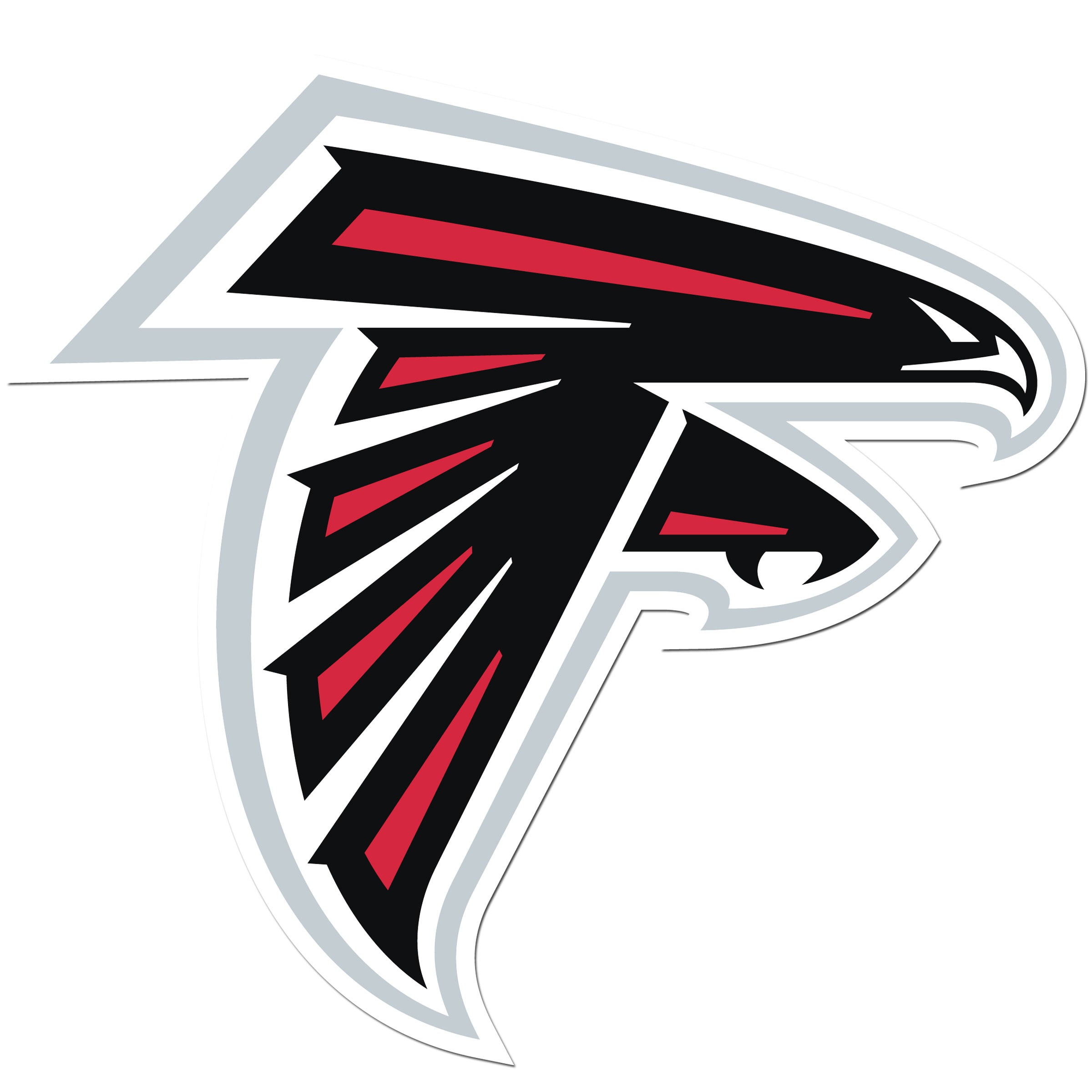 Atlanta Falcons 8 inch Auto Decal - This bold, 8 inch Atlanta Falcons is a great way to show off your team pride! The low tack vinyl decal is easily positioned and adjusted to make sure you get that logo in just the right spot on your vehicle. Designed to be used on the outside of the window.