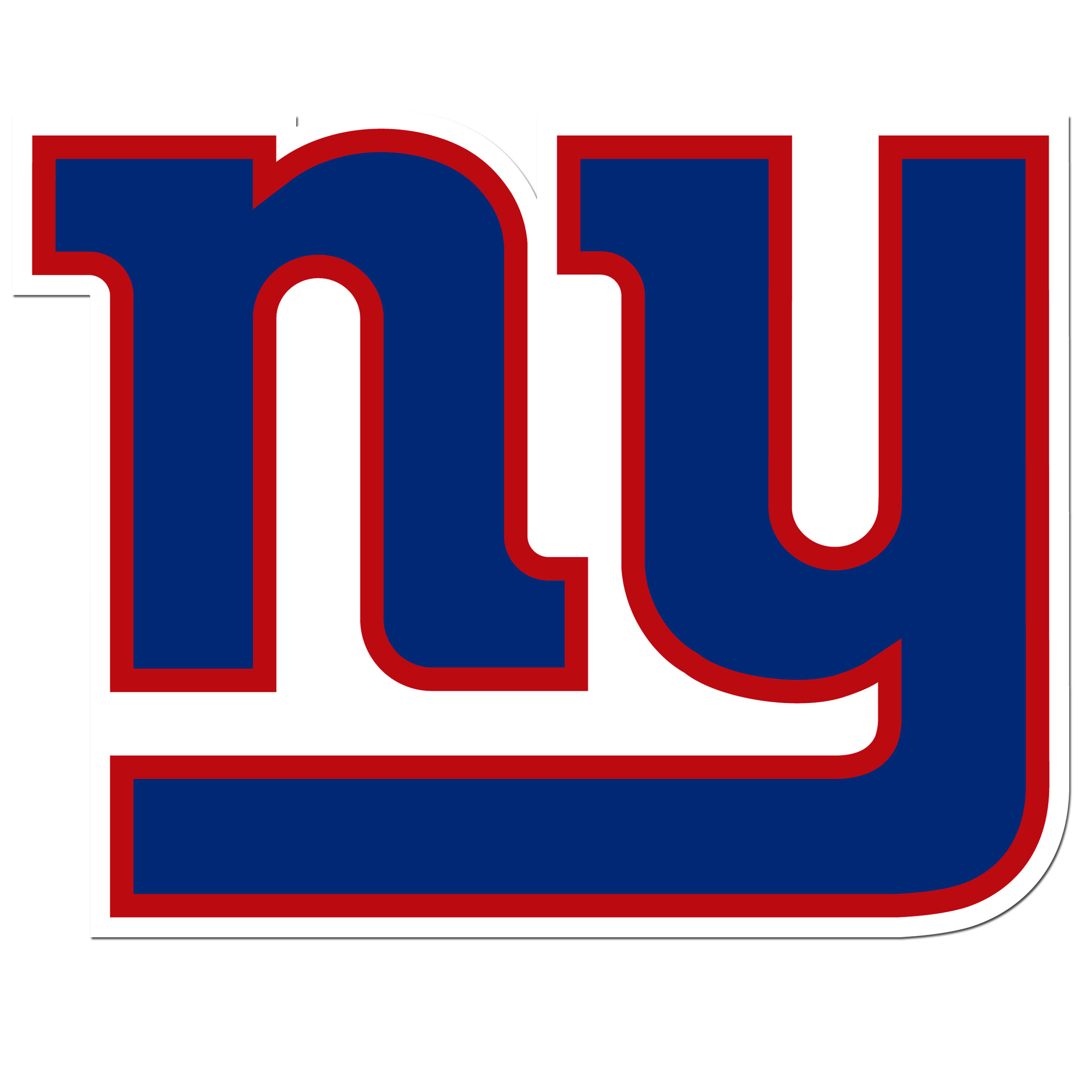 New York Giants 8 inch Auto Decal - This bold, 8 inch New York Giants is a great way to show off your team pride! The low tack vinyl decal is easily positioned and adjusted to make sure you get that logo in just the right spot on your vehicle. Designed to be used on the outside of the window.