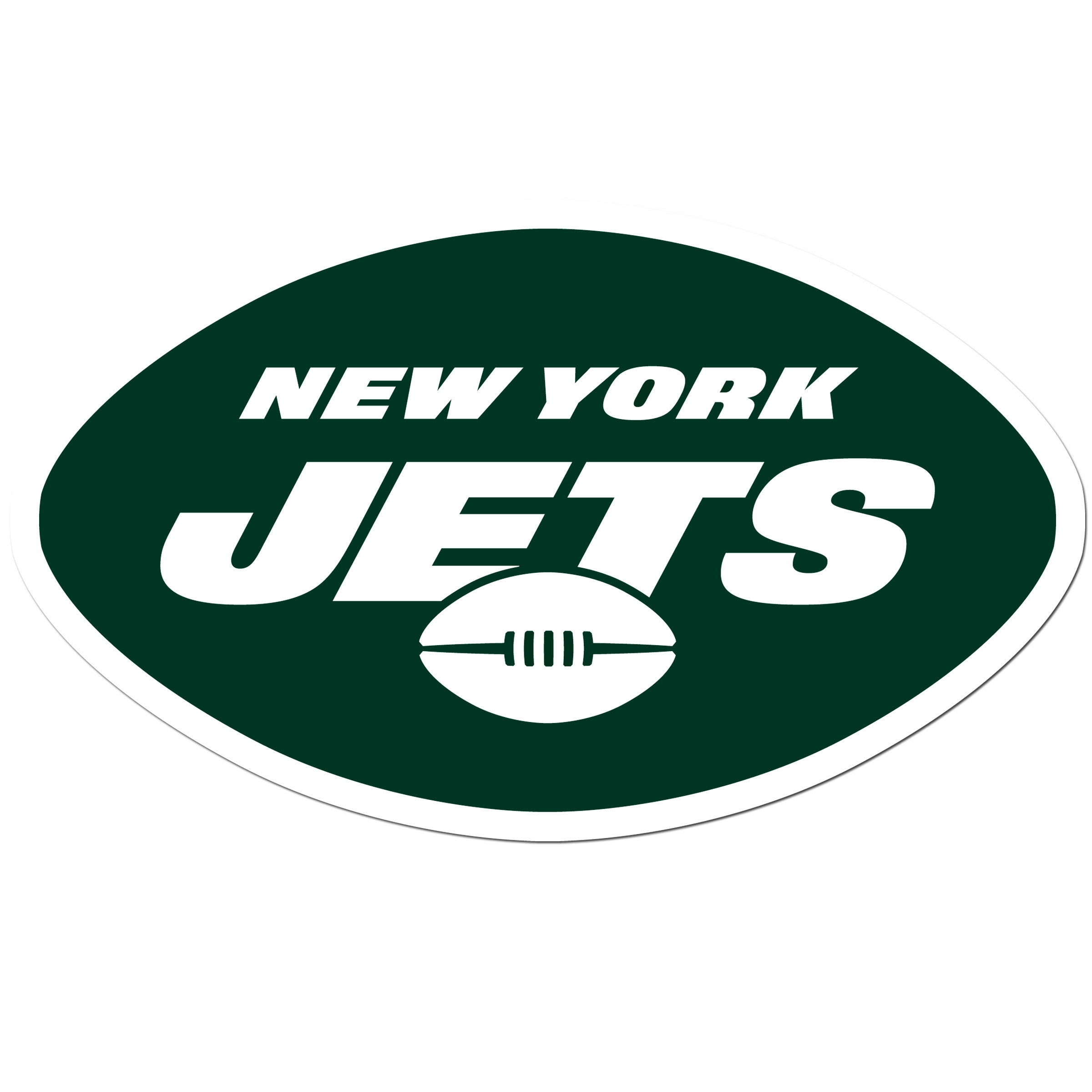 New York Jets 8 inch Auto Decal - This bold, 8 inch New York Jets is a great way to show off your team pride! The low tack vinyl decal is easily positioned and adjusted to make sure you get that logo in just the right spot on your vehicle. Designed to be used on the outside of the window.