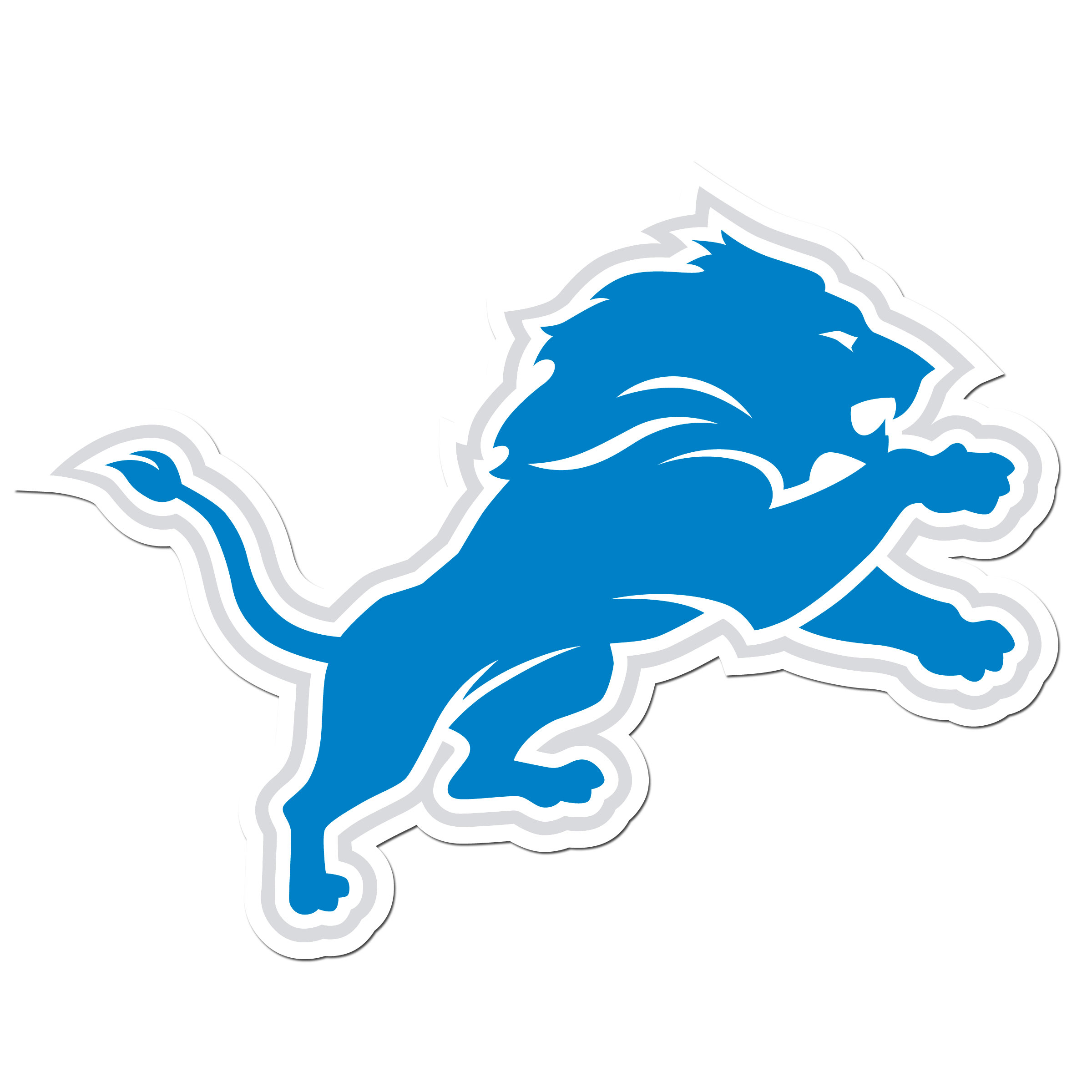 Detroit Lions 8 inch Auto Decal - This bold, 8 inch Detroit Lions is a great way to show off your team pride! The low tack vinyl decal is easily positioned and adjusted to make sure you get that logo in just the right spot on your vehicle. Designed to be used on the outside of the window.