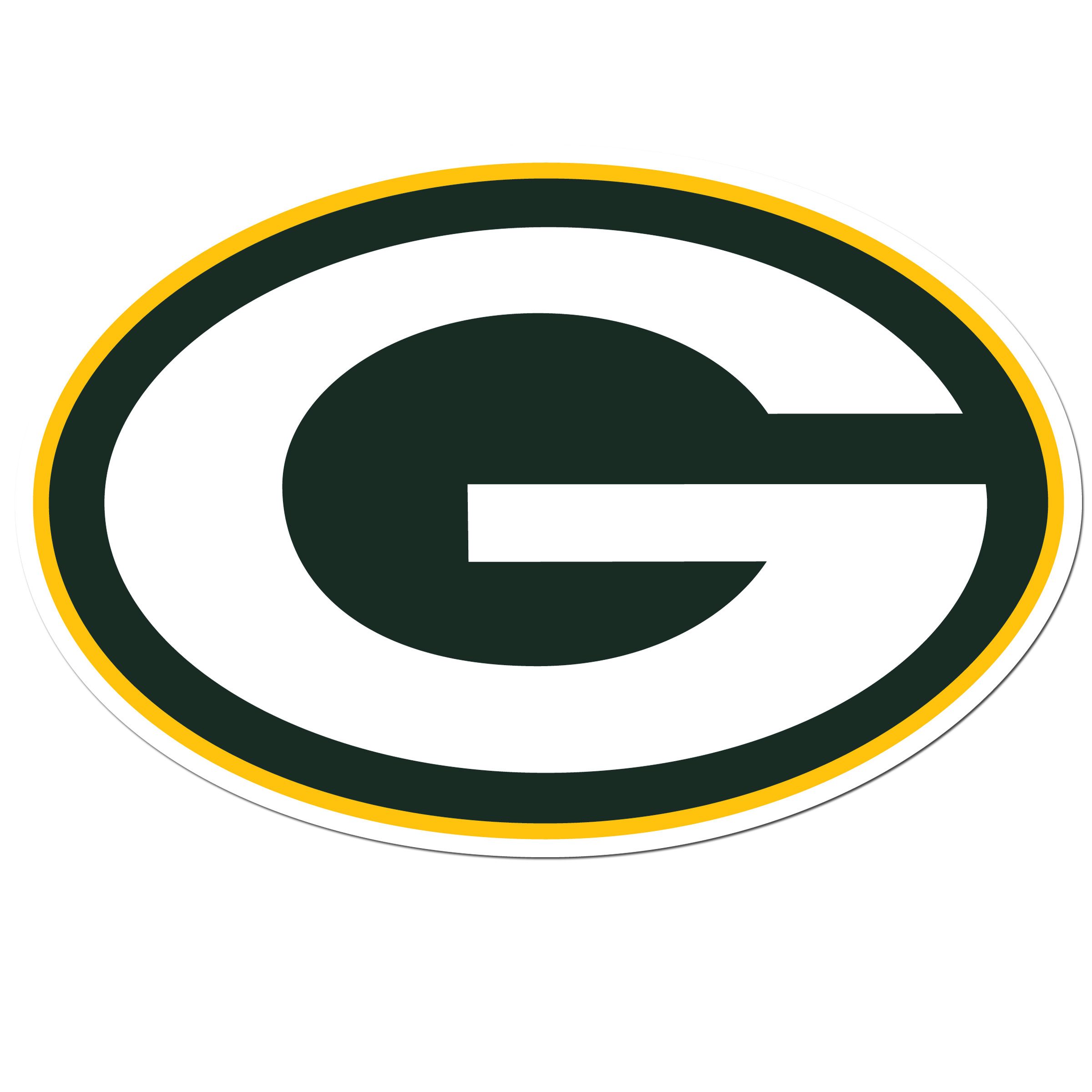 Green Bay Packers 8 inch Auto Decal - This bold, 8 inch Green Bay Packers is a great way to show off your team pride! The low tack vinyl decal is easily positioned and adjusted to make sure you get that logo in just the right spot on your vehicle. Designed to be used on the outside of the window.