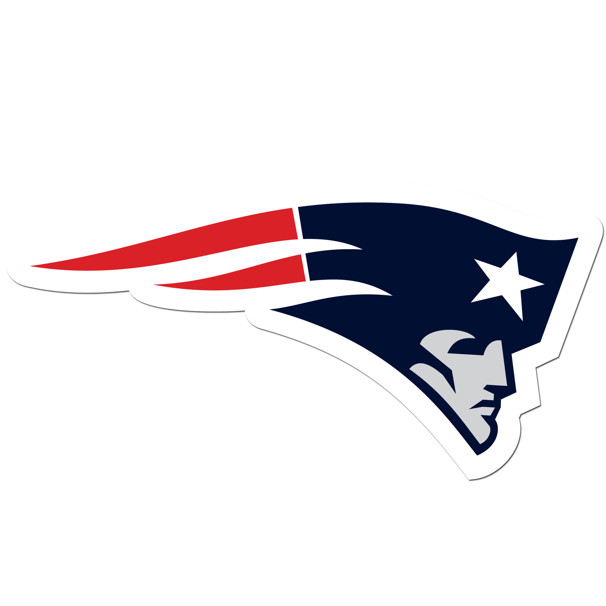 New England Patriots 8 inch Auto Decal - This bold, 8 inch New England Patriots is a great way to show off your team pride! The low tack vinyl decal is easily positioned and adjusted to make sure you get that logo in just the right spot on your vehicle. Designed to be used on the outside of the window.