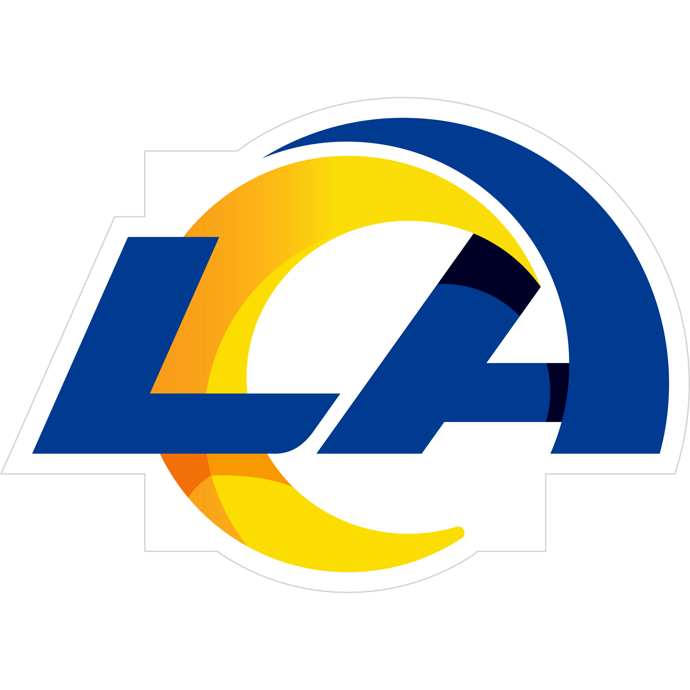 Los Angeles Rams 8 inch Auto Decal - This bold, 8 inch Los Angeles Rams is a great way to show off your team pride! The low tack vinyl decal is easily positioned and adjusted to make sure you get that logo in just the right spot on your vehicle. Designed to be used on the outside of the window.