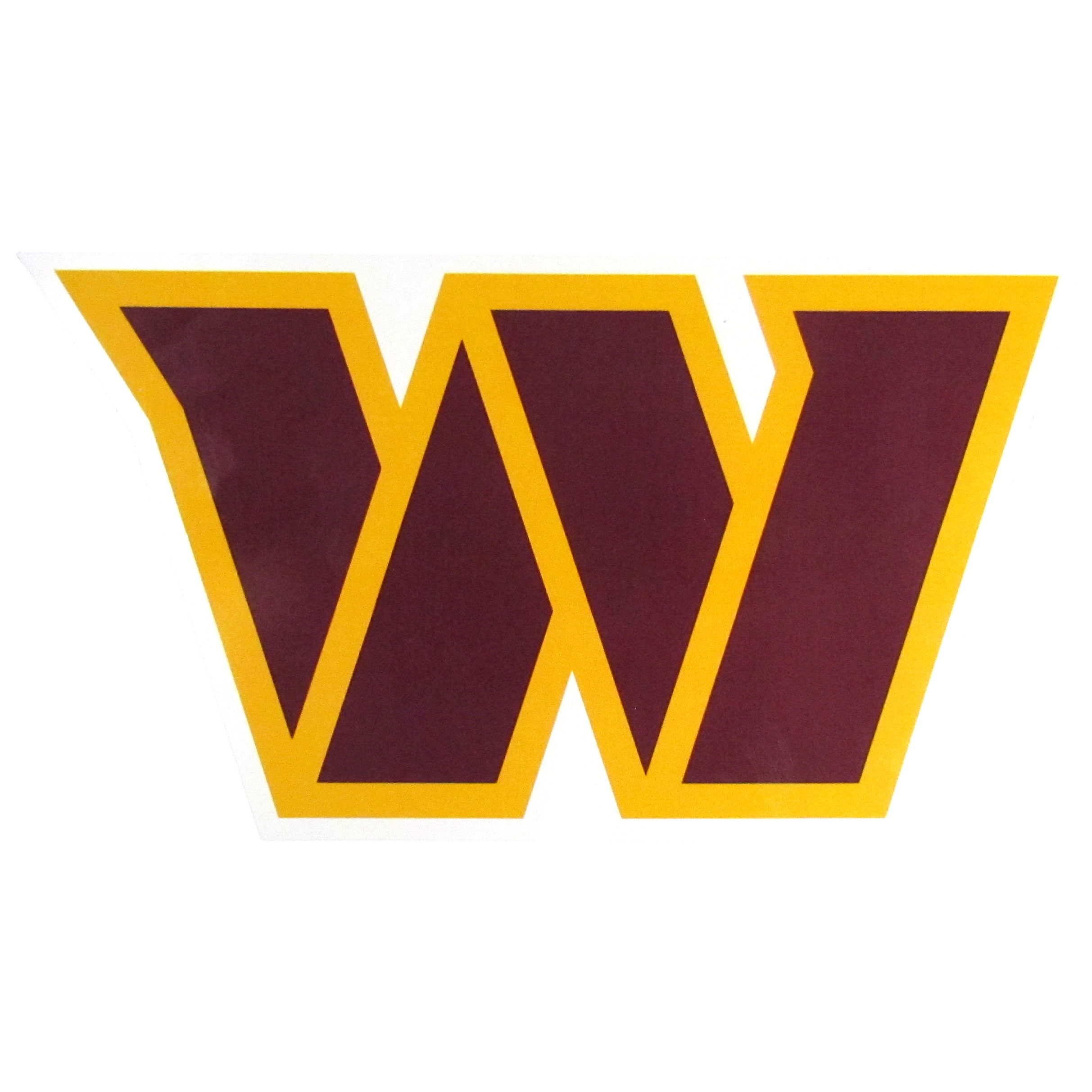 Washington Redskins 8 inch Auto Decal - This bold, 8 inch Washington Redskins is a great way to show off your team pride! The low tack vinyl decal is easily positioned and adjusted to make sure you get that logo in just the right spot on your vehicle. Designed to be used on the outside of the window.
