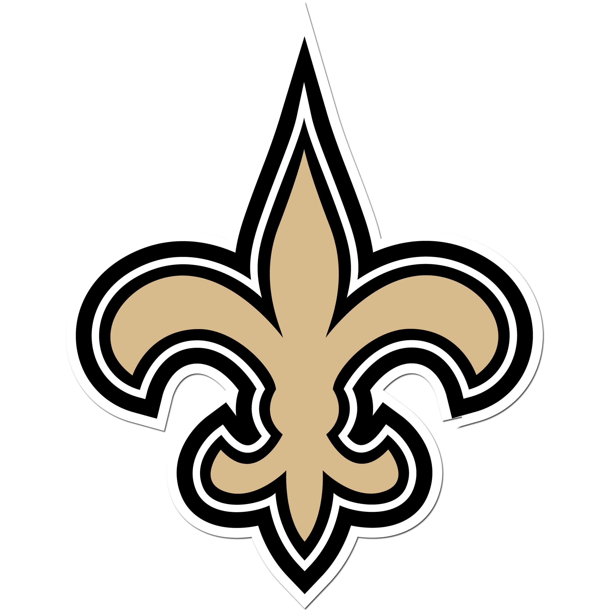 New Orleans Saints 8 inch Auto Decal - This bold, 8 inch New Orleans Saints is a great way to show off your team pride! The low tack vinyl decal is easily positioned and adjusted to make sure you get that logo in just the right spot on your vehicle. Designed to be used on the outside of the window.