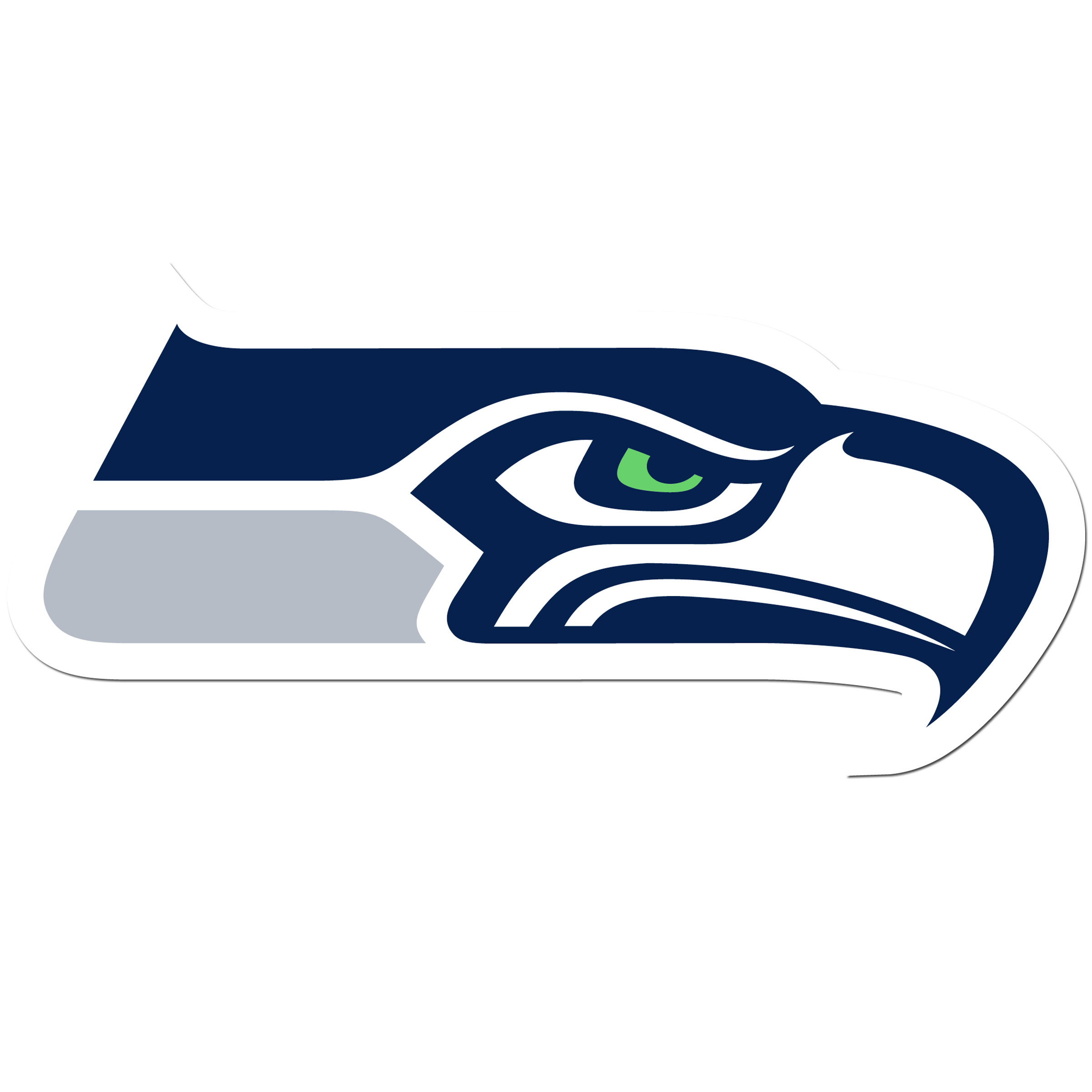 Seattle Seahawks 8 inch Auto Decal - This bold, 8 inch Seattle Seahawks is a great way to show off your team pride! The low tack vinyl decal is easily positioned and adjusted to make sure you get that logo in just the right spot on your vehicle. Designed to be used on the outside of the window.