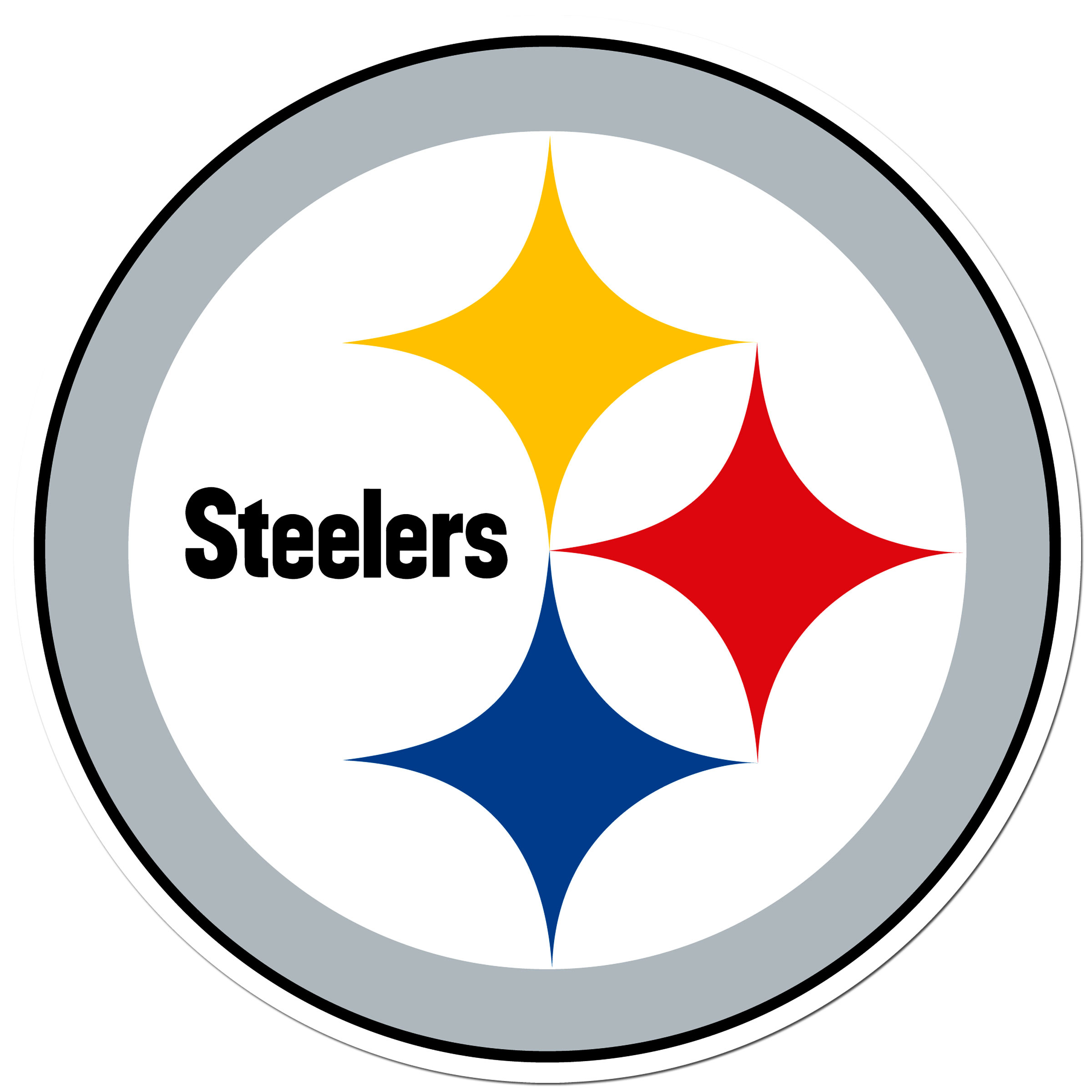 Pittsburgh Steelers 8 inch Auto Decal - This bold, 8 inch Pittsburgh Steelers is a great way to show off your team pride! The low tack vinyl decal is easily positioned and adjusted to make sure you get that logo in just the right spot on your vehicle. Designed to be used on the outside of the window.