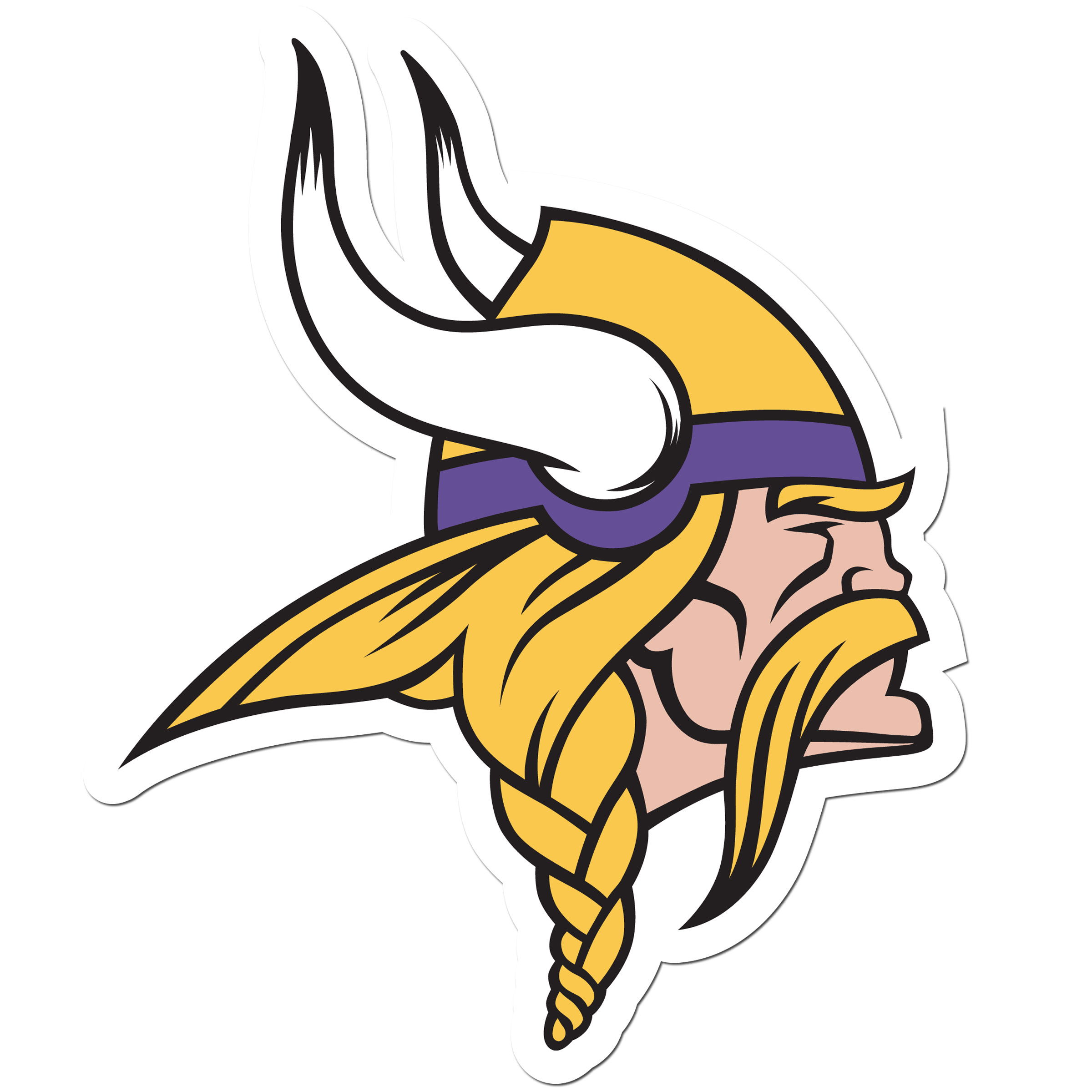 Minnesota Vikings 8 inch Auto Decal - This bold, 8 inch Minnesota Vikings is a great way to show off your team pride! The low tack vinyl decal is easily positioned and adjusted to make sure you get that logo in just the right spot on your vehicle. Designed to be used on the outside of the window.